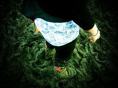 mud 'n' wellies #5 (lomoD.xx) Tags: people rain weather festival lomo lca xpro crossprocessed xprocess mud glastonbury slide lomolca louise 100 wellingtonboots lookingdown agfa wellies agfaprecisa vignette musicfestival agfaprecisa100 precisa precisa100 omo glastonbury07 funkytapet
