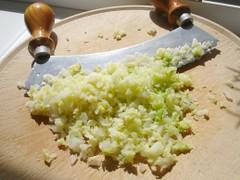 Wirsing blanchiert und gehackt