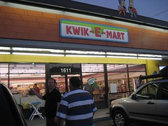 Tim and Steve check out the real-life Kwik-E-Mart. (7/13/2007)