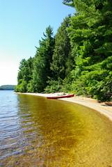 OUR ALGONQUIN OASIS (Chico Photo) Tags: camping sun beach sunny canoe muskoka paddling algonquinpark k10d