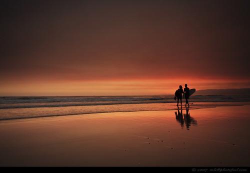 seascape santabarbara sunset surfer photofool