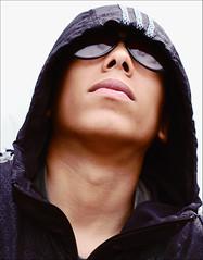 ((roxanne)) Tags: city boy portrait london sunglasses d50 50mm f28 whitevan