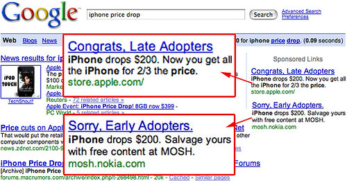 Nokie & Apple on Google over iPhone