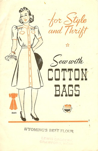 Sew with cotton bags booklet, 1941