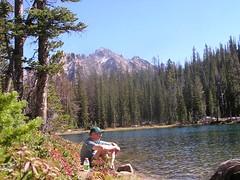 Hiker J at Alpine Lake