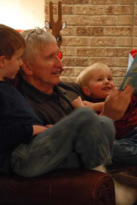 reading with grandpa