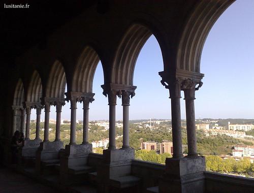 Galerias do castelo, e vista sobre a cidade