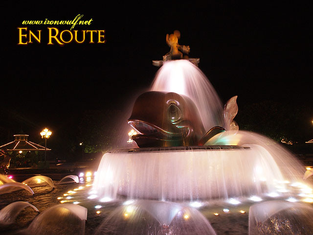 Disney Fountain at the Entrance Gates