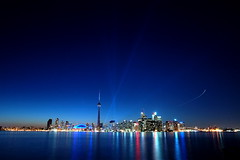 another TO SkyLine with Luminato lights (AtillaSoylu) Tags: sunset toronto d50 nikon nightlights nightshots nophotoshop gta turkish cityatnight tpmg atilla soylu nikonstunninggallery torontoatnight toisland tamron1750mmf28xr toskyline luminato sunisgoingdown dsc6948incresize