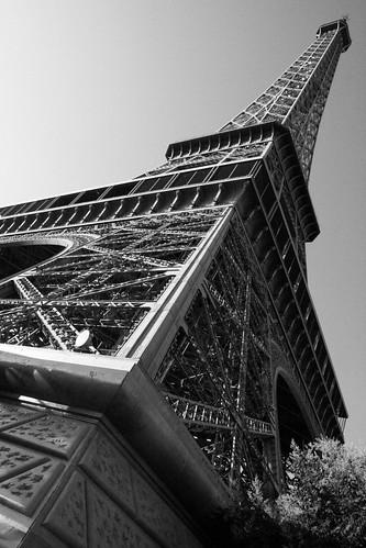 Eiffel tower before sunset