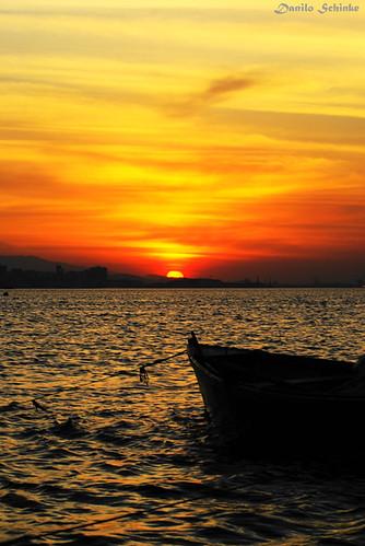 pôr do sol em Charitas