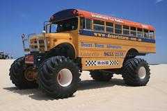 The Desert Storm (Jari Kurittu) Tags: bus australia wa schoolbus westernaustralia monstertruck lancelin desertstorm glenndoyle