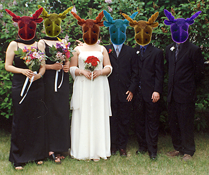 my wedding, with mooseheads