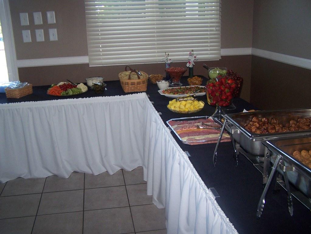 Plum Creek reception - buffet table