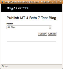 Movable Type 4 Beta 7 Publishing Content