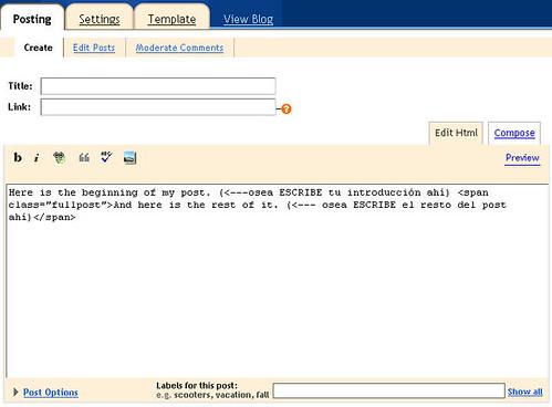 screenshot for my blog