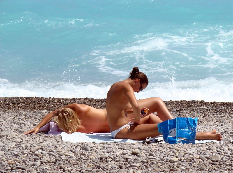 French riviera nudes on beach
