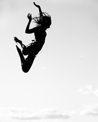 Fly (Deana Steere) Tags: sky blackandwhite clouds swimming fly jumping action marthasvineyard deanasteere
