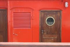 Sandettie (just.Luc) Tags: door wood red brown france coral metal explore porthole brass dunkerque lightship vermilion rivet cinnabar sandettie views75 50club