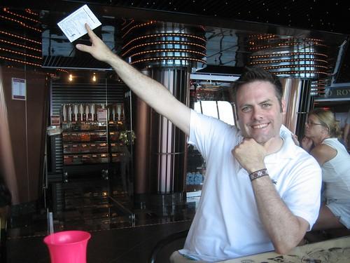Doug winning at Trivia