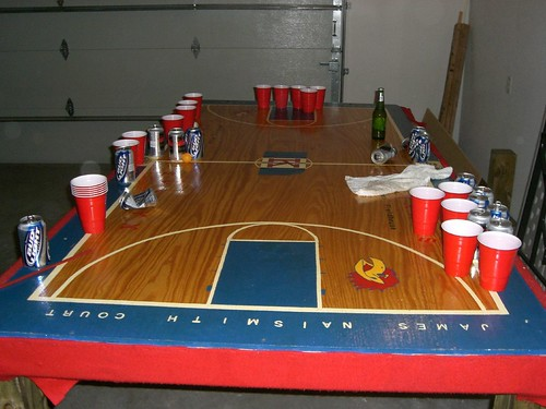 KU Jayhawks Beer Pong Table