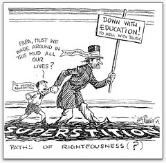 """Paths of Righteousness?"" (cartoon, 1929, from ""Evolution"")"