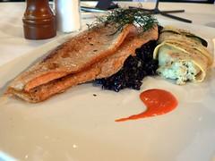 trout (stu_spivack) Tags: food fish rice trout moxie dopplr:eat=kh01