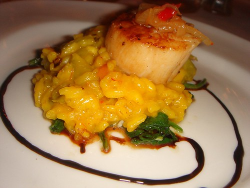scallop and risotto