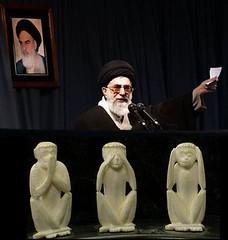 iran  ,  see no to criminal  islamic regime of iran , hear no to criminal  islamic regime of iran , say no to criminal  islamic regime of iran (jemakaran- ) Tags: iran islam evil devil iranian tehran  islami mullah irani  molla     mulla   akhond akhoond sheytan