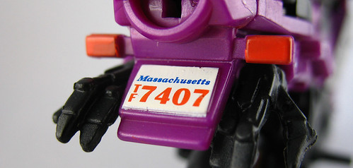 Transformers Movie Arcee (license plate close up)