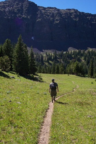 Me hiking to Emerald Lake, Hyalite Canyon, Bozeman, Montana