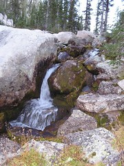 Inlet stream to Upper Cramer (@ 7:30 p.m.!)