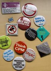 Tradeshow buttons circa mid '80s