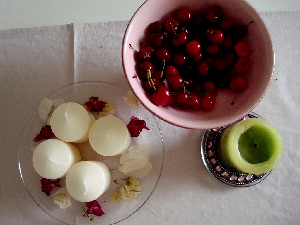Cherries and candles