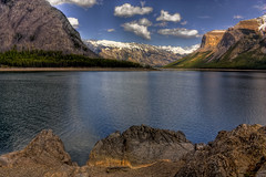Up, down and in between (JoLoLog) Tags: mountain lake canada alberta rockymountains hdr banffnationalpark lakeminnewanka lorien thecanadianrockies canonxsi