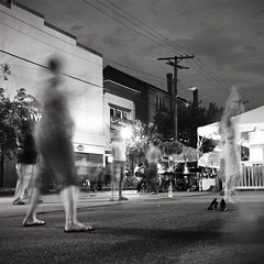 hooping (patrickjoust) Tags: street city people urban bw woman usa white black 120 6x6 tlr blancoynegro film home festival night america dark square lens us reflex md women long exposure play united release tripod twin maryland cable baltimore 150 mat v 124g epson after medium format 100 pan states 500 rodinal avenue edu developed ultra yashica hulahoop hampden develop estados the foma 80mm f35 blancetnoir unidos 36th honfest yashinon fomapan arista v500 rebranded schwarzundweiss autaut