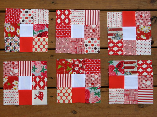 Nine Patches for Kate - Busy Bees