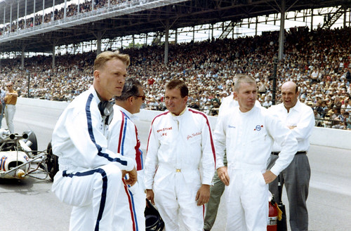 Dan Gurney, Rodger Ward, Jim Hurtubise and Bobby Marshman