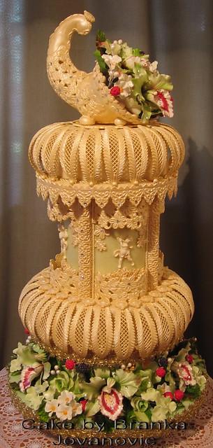 Cornucopia Wedding Cake