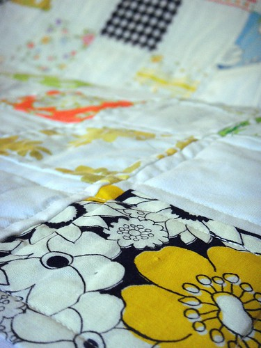 bits of the vintage fabric and linens quilt