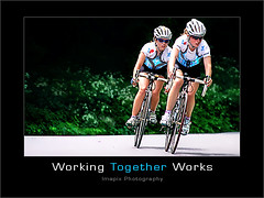 T o g e t h e r (Imapix) Tags: race cycling photo team women bravo photographie cyclist montreal racing together motivation coolest vlo teamwork imapix byciclette 2007womenscyclingmontrealworldcup coupedumondecyclistefemininedemontral2007 imapixphotography gatanbourquephotography