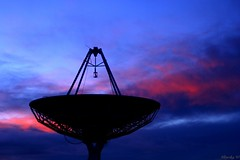 UC satelite dish 14/6/07 (Allyeska) Tags: pink blue sky night university technology dish space deep canberra universityofcanberra satelite mywinners mywinner auselite