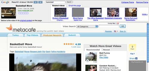 Google Video with MetaCafe