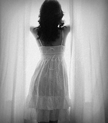 Window (sam_samantha) Tags: woman selfportrait me window silhouette blackwhite curtain naturallight figure blueribbonwinner bwdreams abigfave lovethisyourbiggestfan