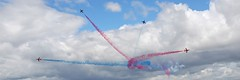 Red_Arrows...........Splitters! (mc_dudley) Tags: show red day force air jets families royal airshow arrows dudley stamford airforce wittering redarrows raf forces armed royalairforce mcdudley diamondclassphotographer flickrdiamond witteringfamiliesday