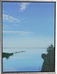 Früher Morgen an der Tryggevælde (dirkgue) Tags: see meer himmel wolken landschaft danmark nordsee ostsee acryl malerei norddeutschland leinwand gemälde realismus realistisch dirkgünther
