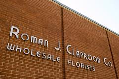 Roman J. Claprood Co (GmanViz) Tags: columbus ohio color brick sign wall letters font gmanviz