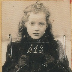 Anny-Yolande Horowitz (rosewithoutathorn84) Tags: portrait blackandwhite bw history beautiful beauty french holocaust europe european child sweet victim curls strasbourg blond mugshot jew jewish lovely worldwar anny horowitz shoah yolande drancy top20jewish