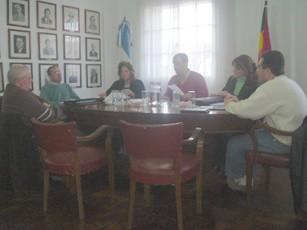 Sesión del Concejo Deliberante en el salón Blanco