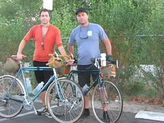 Met Rob in San Bernardino where the paved section of the SART begins. (cyclotourist) Tags: beach heron face riverside huntington corona anaheim ie oc rivendell yorbalinda sart ibob santaanarivertrail